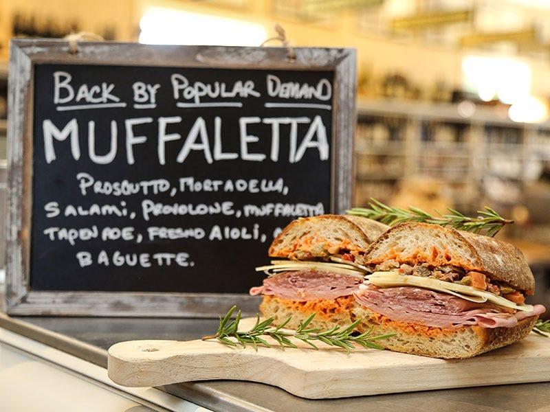 Oakville Grocery muffaletta sandwich