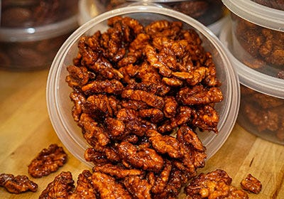 Oakville Grocery candied pecans and walnuts