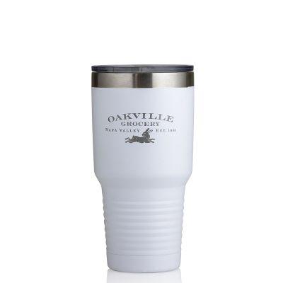 Oakville Grocery Veneer Stainless 30 oz Logo Tumbler-White