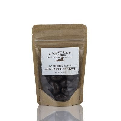 Oakville Grocery Dark Chocolate Sea Salt Cashews