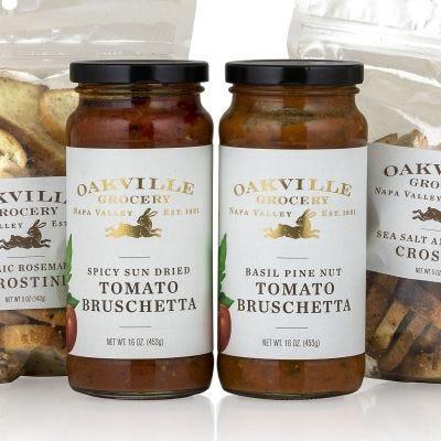 Oakville Grocery Basil Pine Nut Tomato Bruschetta