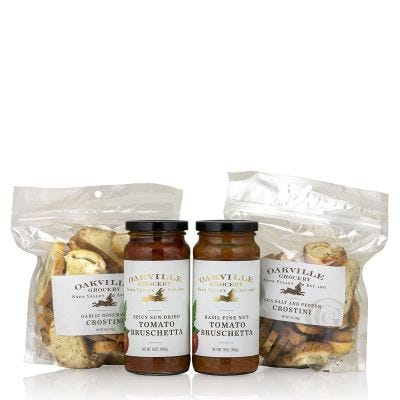Bruschetta and Crostini Night In - Oakville Grocery Gift Set
