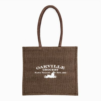 Oakville Grocery Medium-Sized Jute Shopper Bag