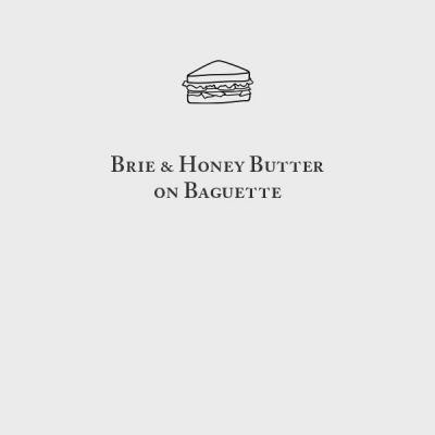 Brie & Honey Butter Baguette Sandwich