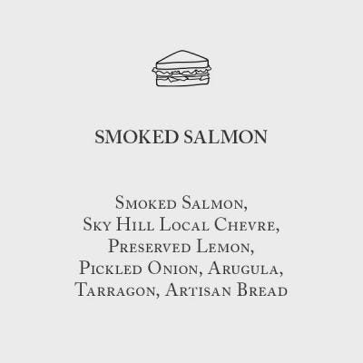 Smoked Salmon Sandwich Menu Card