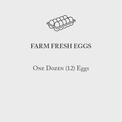 Farm Fresh Eggs Menu Card