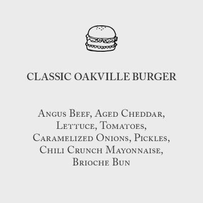Classic Oakville Burger